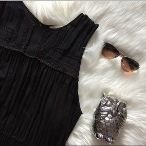 Black Dress w/Lace Yoke Top